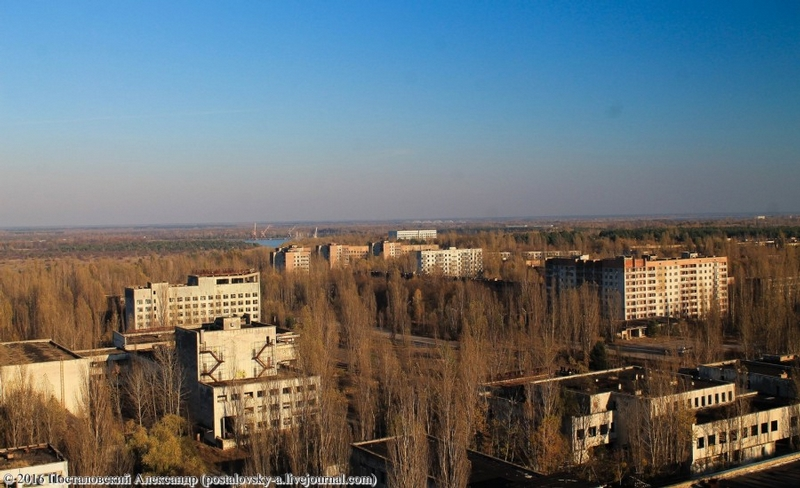 Pripyat Chernobyl as Seen from Sixteen Stored Buildings Rooftops