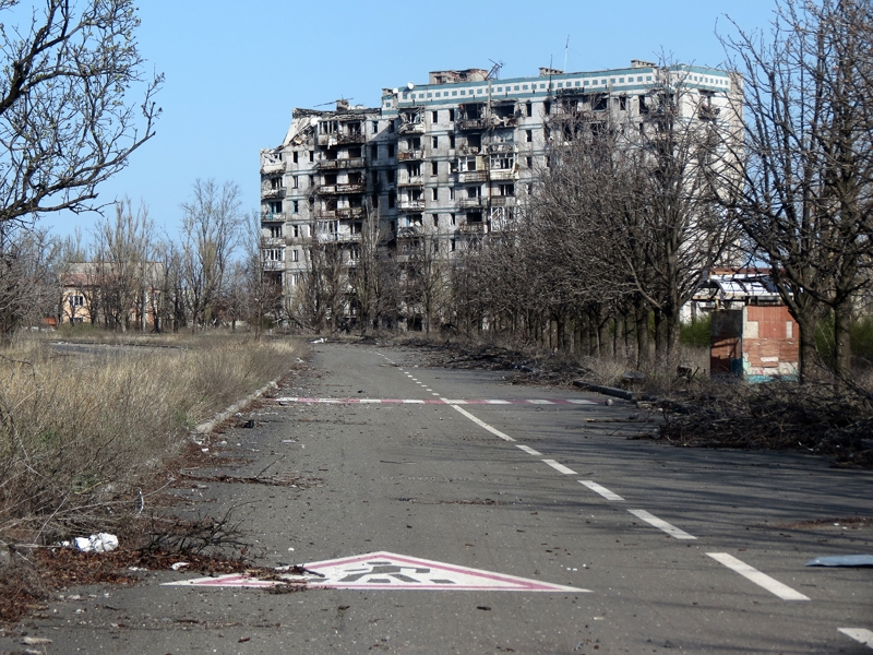 Donetsk. The ruined Airport