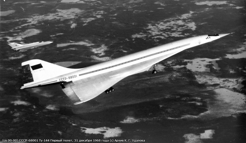 First Flight of Supersonic TU-144