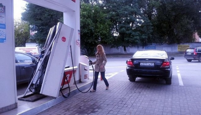 Weird Photos from Russian Gas Stations