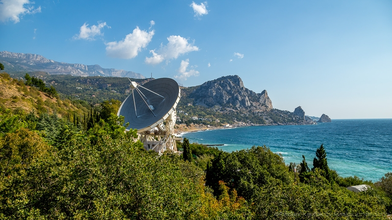 Soviet space radio telescope in Crimea