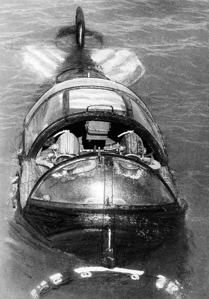 Russian Navy Unique Project: Two-Person Mini  Submarine Called Triton