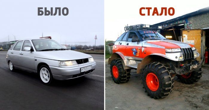 Man turns his LADA into a all-terrain vehicle