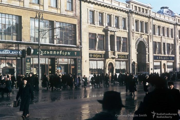 Spy photos of Moscow in 1950s
