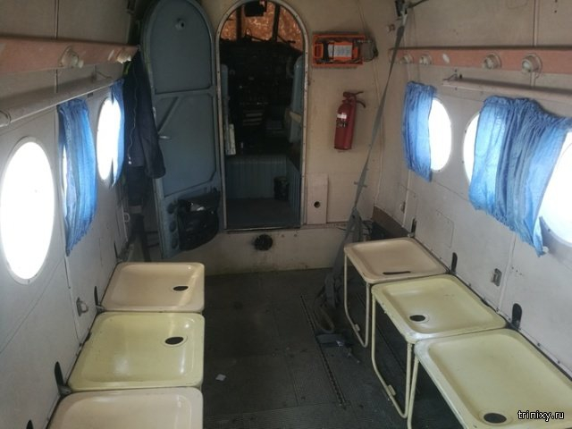 Inside of Soviet AN-2 Airplane