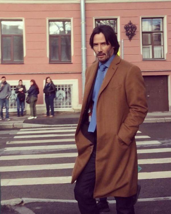 American Actor Keanu Reeves arrived in St.Petersburg