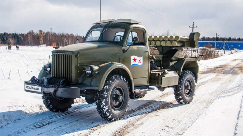A restored WW2 Gaz 63 Rocket launcher [photos]