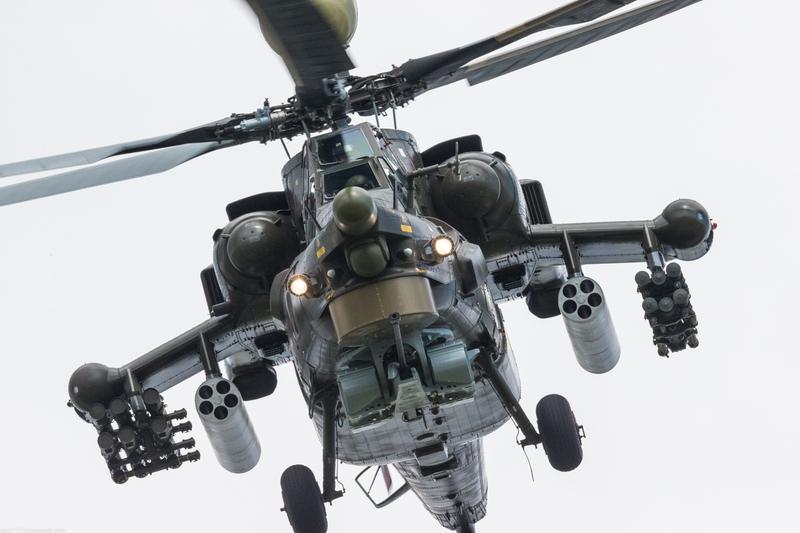 Russian New Mi-28UB Helicopter Demo Flight