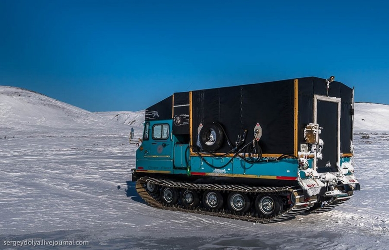 Travelling Across Russian Tundra on Japanese All-terrain Vehicle