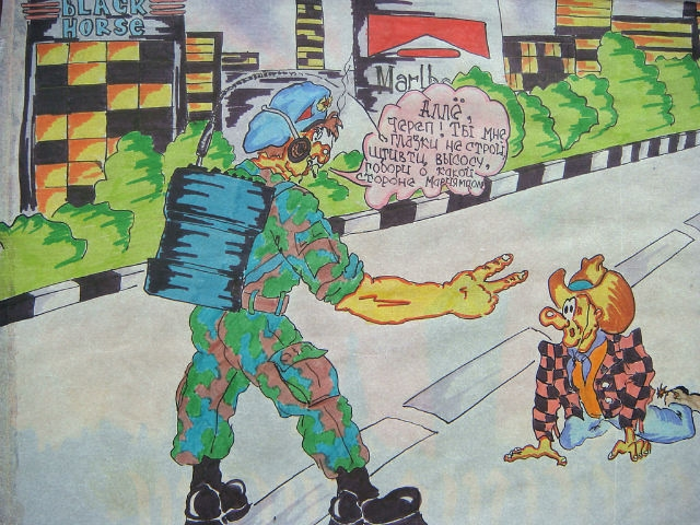 Russian paratrooper soldier made funny art about his service