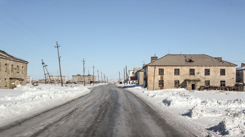 Abandoned Russian Town that Stored Nuclear Weapons 200 Km from USA Coast in Winter