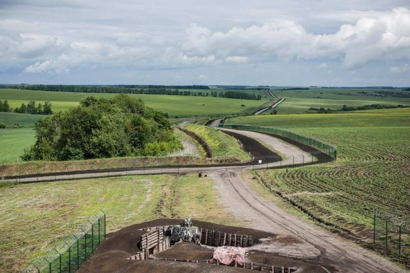 Wall on the Ukraine Russia Border