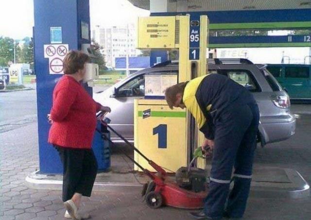 Weird Photos from Russian Gas Stations