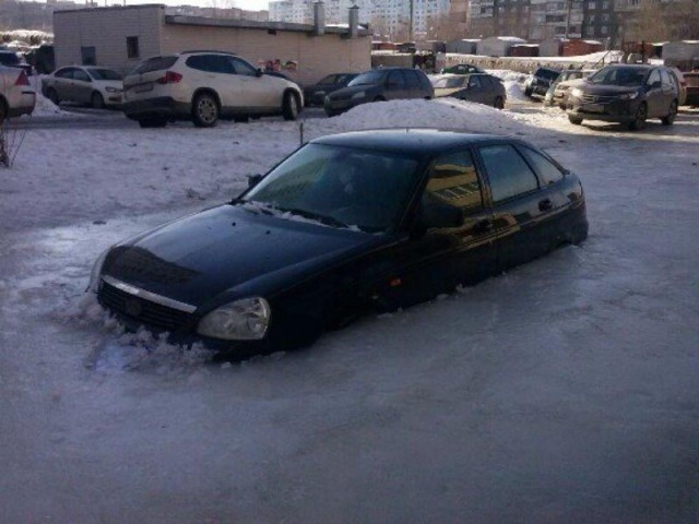 Ice Trapped Cars of Russia