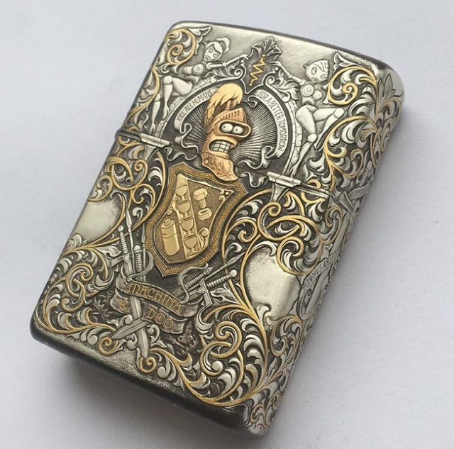 Russian Man Makes Interesting Coin and Zippo Lighter Art
