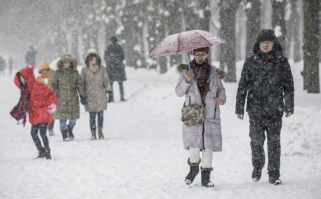 Record Snow in Moscow Yesterday [photos]