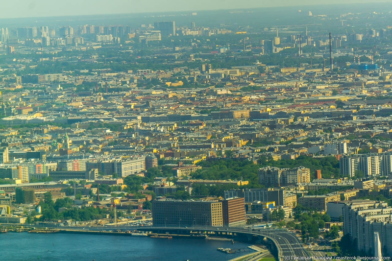 Views of St.Petersburg from the Tallest Watch Tower of Europe