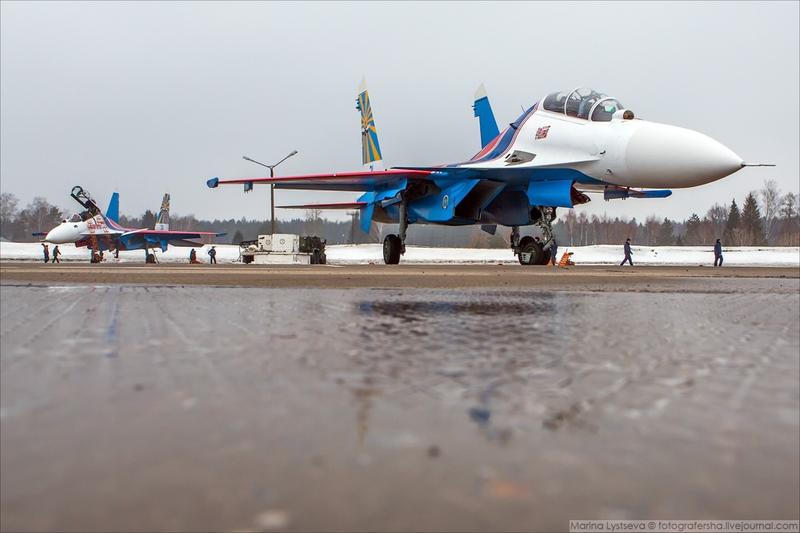 Russian aerobatics group Russkie Vityazi got new SU jets
