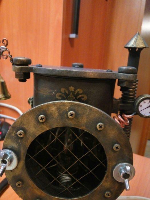 Steampunk Stove Lamp