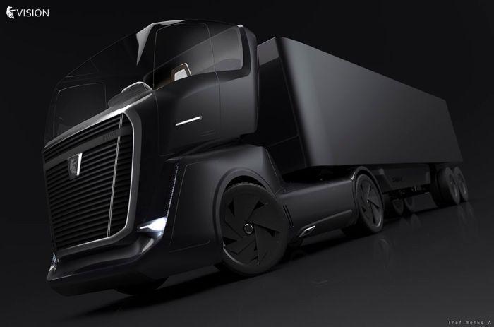 A concept of Russian KAMAZ truck