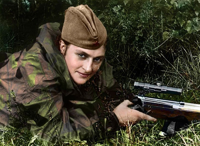Ladies of Death: Portraits of Russian Women Snipers from World War II, Colorized