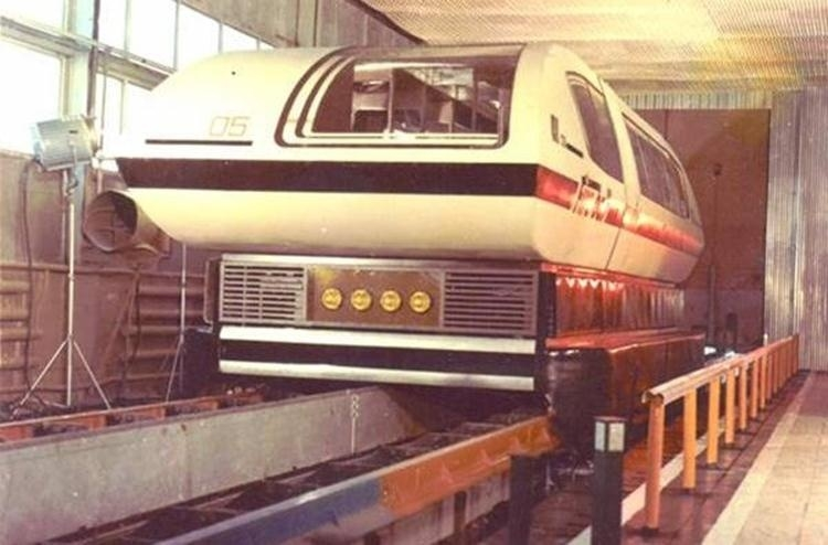 Unique Soviet Magnetic Levitation Train that Could Go 400 km/h [photos, video]
