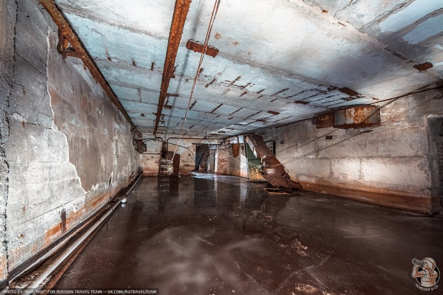 Abandoned Frozen Bomb Shelter Looking like a Skating Rink