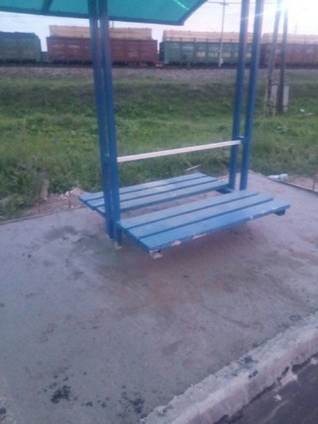 Man Waiting for A Bus... and a few more crazy Russian bus stops [photos]