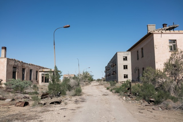 Photos from Abandoned Soviet City Aralsk-7 Where Biowarfare Was Developed