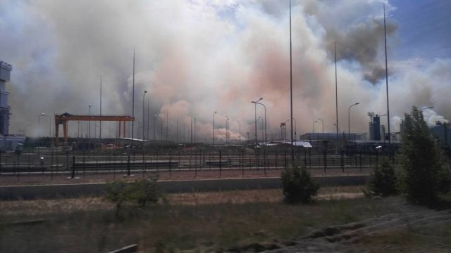 Fire in forest near Chernobyl [7 photos]