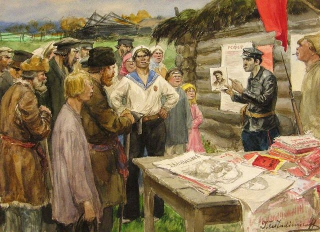Harsh Realities of 1917 Revolution in Paintings of a Petrograd Police Officer