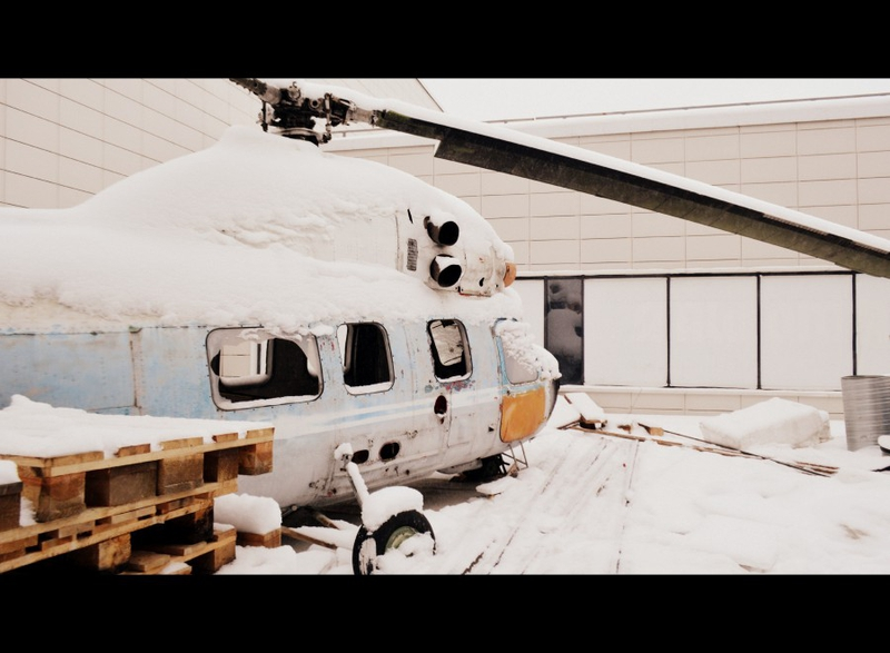 Russian Post Apocalyptic Bar Even Got a Helicopter!