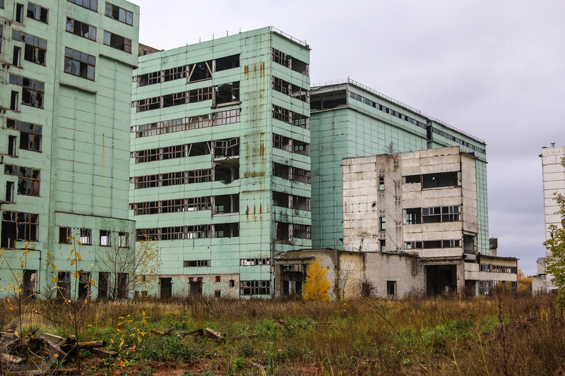 Abandoned Wheat Elevator Grainery That Was Biggest in Russia