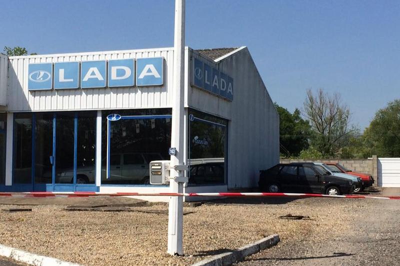 Abandoned LADA dealership in France