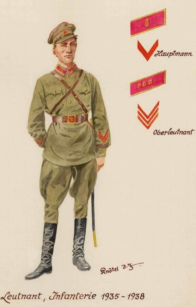Soviet soldiers as seen by German artist