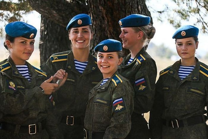 Russian Women Students of Airborne Forces School