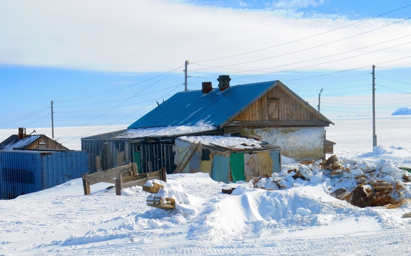Small Abandoned Town Was Rebuilt into Colorful Arctic Town Yansk in Russia