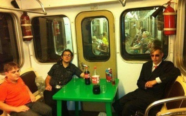 Unusual Passengers of Russian Subways 3