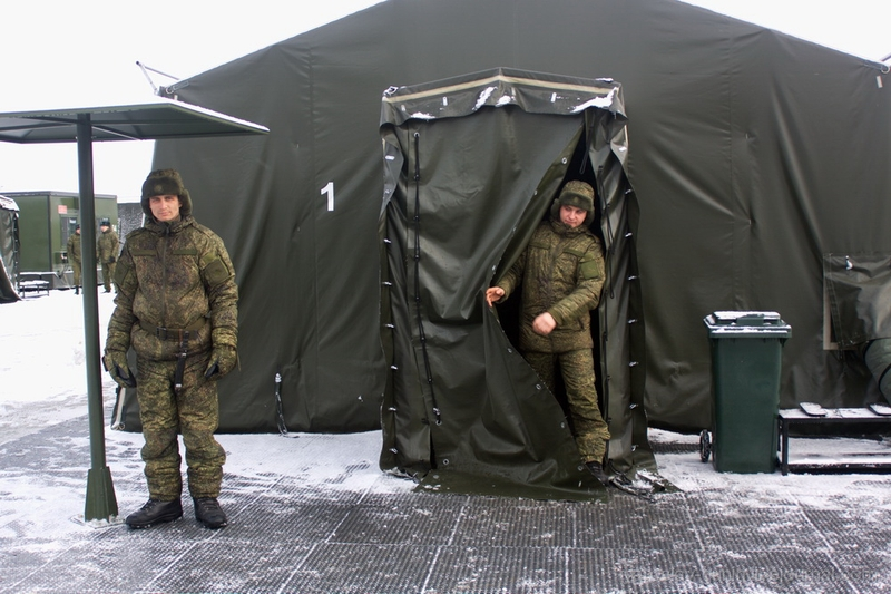 First Try to Build Russian Army  Camp at Extreme -40 C