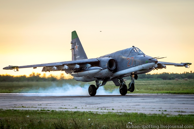 Russian Jets Flying Above the Azov Sea, Night and Day
