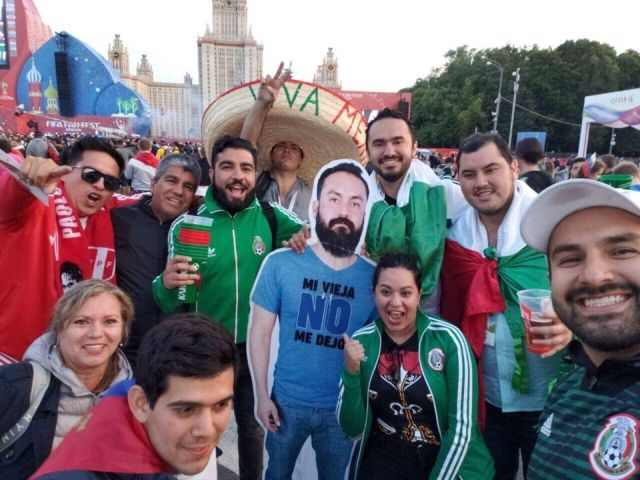 Cardboard Mexican Fans Spends Time at World Cup Russia [photos]
