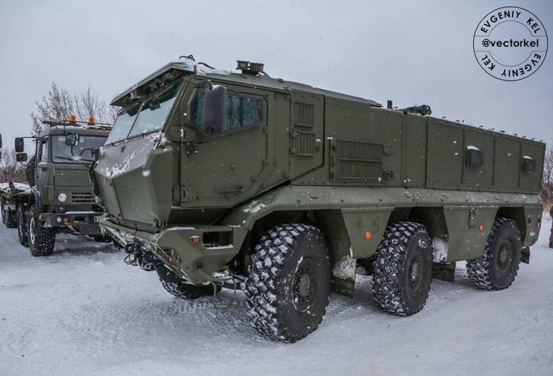 """Russian armored vehicle """"Typhoon"""" serving in Russian army"""