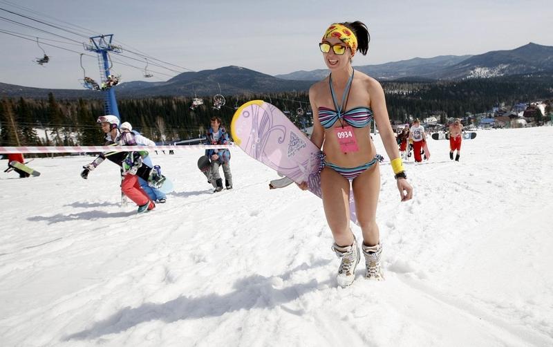 Bikini Snowboarding Festival 2017 in Russia