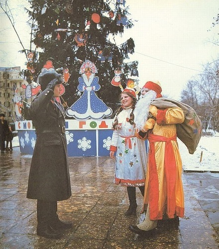 Soviet People Celebrating Christmas