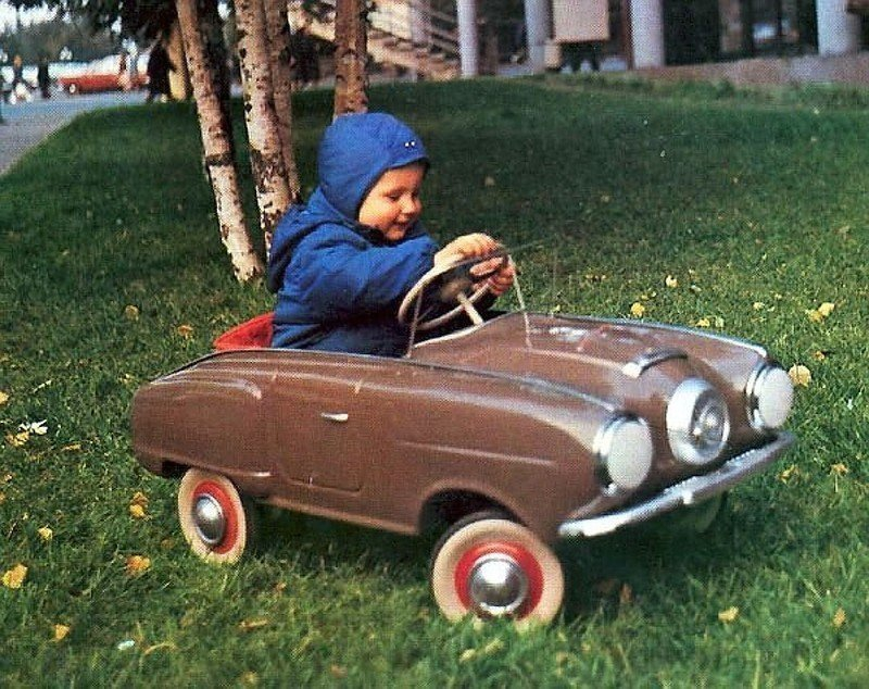 Vintage Pedal Cars of Soviet kids