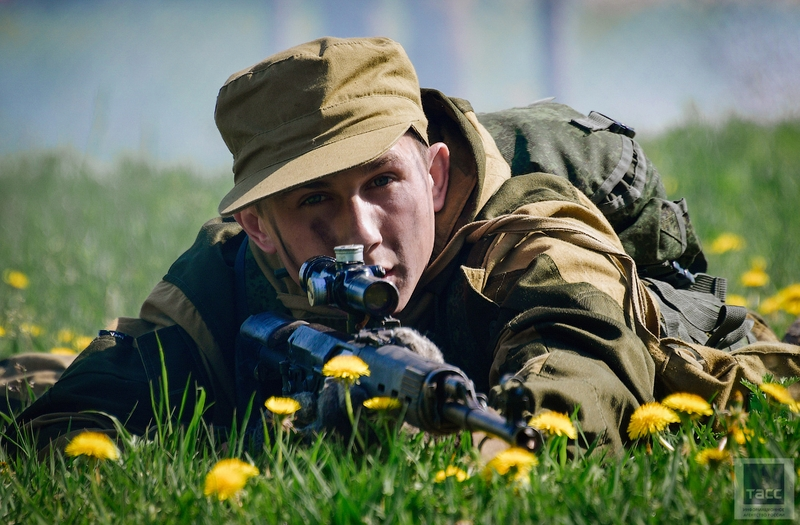 Russian Military Intelligence Special Forces Passing an Obstacle Course Imitating NATO Fences