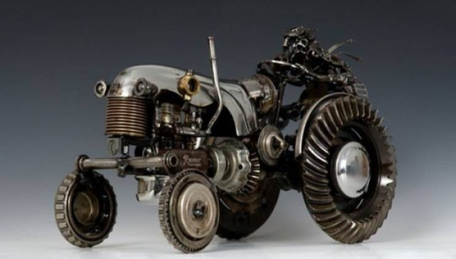 Russian man makes awesome scrap metal figures [43 photos]