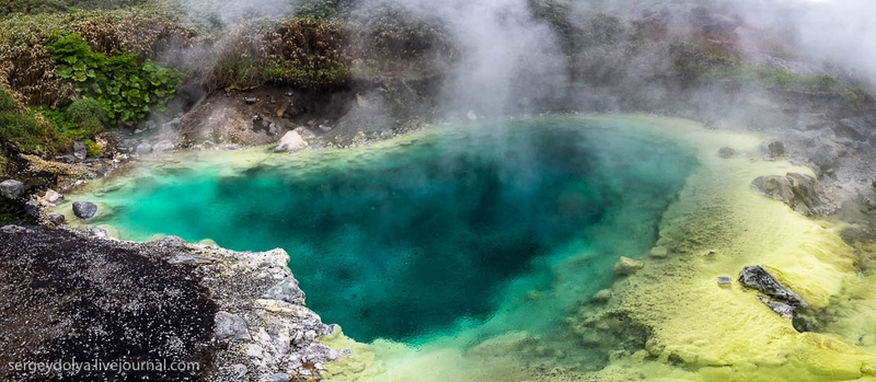 Hot Springs on Iturup Island: The Eight Meter Waterfall With Hot Water