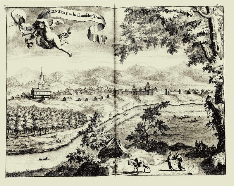 Russian cities on 1711 old pictures of Nicolaas Witsen: Some of this cities don't exist anymore