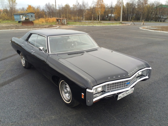 A Restored Chevrolet Impala in Moscow Russia